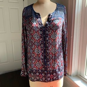 Lucky Brand Tops - Lucky Blouse With Embroidered Top